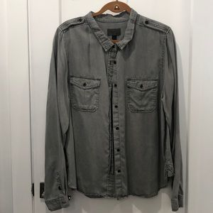 Universal Thread Gray Buttoned Blouse never worn